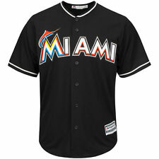 Miami Marlins Majestic Youth Official Cool Base Jersey - Black