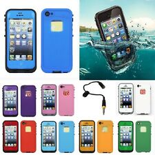 New Waterproof PC Shockproof Dirt Dust Proof Case Cover For iPhone 4/4S/5/5S