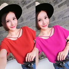 Summer Casual Chiffon T-shirts Women Short Sleeve Blouse Tops Ladies Tops S-XXL