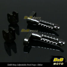 For Suzuki TL1000R 98 99 00 01 02 03 BLACK 25mm Adjustable Front Foot pegs