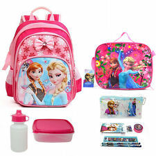 "13 ""Cute Frozen Girls Backpack Kids Elsa Anna Shoulder Lunch Bag Pencil Case"