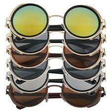 Steampunk Sunglasses Round Glasses Cyber Goggles Vintage Retro Style Blinder VB