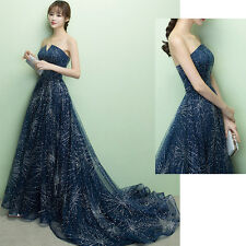 Noble Off Shoulder Sequin Cocktail Gown Wedding Bridal Evening Party Prom Dress