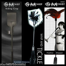 Sex & Mischief Feather Slapper Whip Riding Crop Role Play Fancy Dress Discreet P