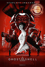 NEW GHOST IN THE SHELL 2017 IMAX PREVIEW SCARLETT MOVIE PRINT - PREMIUM POSTER