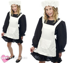 GIRLS VICTORIAN MAID COSTUME CHILDS POOR HISTORIC FANCY DRESS SCHOOL CURRICULUM