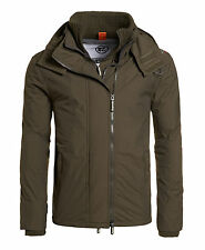 New Mens Superdry Pop Zip Hooded Arctic Windcheater Jacket Army