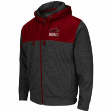 Arkansas Razorbacks Colosseum Tread Full Zip Hoodie - Gray - NCAA