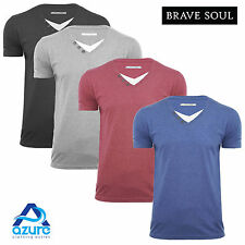 Mens T Shirt Brave Soul 'Fable' Cotton V Neck Short Sleeved S M L XL Top New