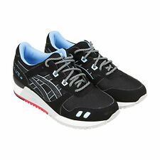 Asics Gel Lyte III Mens Black Suede & Synthetic Athletic Lace Up Athletic Shoes