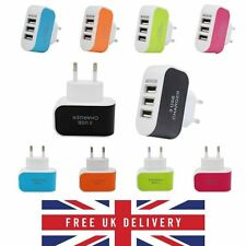 3 Ports 3.1A European USB Power Adapter EU Plug Home Wall Charger for iPhone