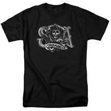 Sons Of Anarchy Charming Ca Mens Short Sleeve Shirt Black
