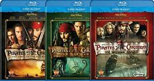 Pirates of the Caribbean - Blu-Ray/DVD New Movies 1, 2 or 3 (choose one) Disney