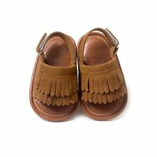 Baby Girl Kid Leather Tassel Sandal Crib Shoes Princess Soft Sole Moccasin Shoes