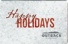 OUTBACK STEAKHOUSE RESTAURANT GIFT CARD no value HAPPY HOLIDAYS