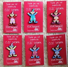 CLIC SARGENT CHARITY CLOWN ENAMEL PIN BADGE BNIP - 6 COLOURS TO CHOOSE FROM