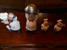 fat chef figurines, statues, Caucasian, Black,  NEW ITEMS ADDED!