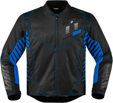 Mens Icon Blue Textile Wireform Motorcycle Riding Street Racing Jacket Harley