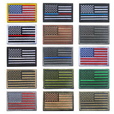 American USA US United States Flag Custom Embroidered Patch Hook & Loop Emblem