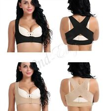 Lady Chest Breast Support Belt Band Posture Corrector Brace Body Vest Women