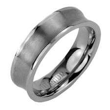 Titanium Jewelry 6mm Brush Concaved Band Men's Wedding Ring