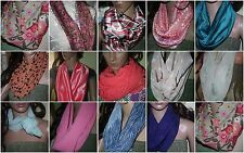 CHOOSE your Infinity SCARF handmade - USA Sheers Polys Textured Satins Peachskin