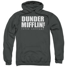 The Office Dunder Mifflin Mens Pullover Hoodie Charcoal