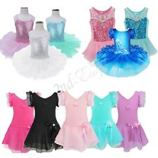 Girl Gymnastics Ballet Dress Toddler Child Leotard Tutu Skirt Dance wear Costume