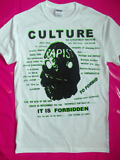 PUNK ROCK CULTURE white t-shirt BOY seditionaries style repro 77  punk all sizes