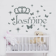 Girls Name Wall Decal Butterfly Decal Custom Name Sticker Nursery Decor Art MA53