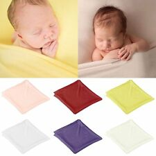 Newborn Baby Soft Cotton Stretch Wrap Photography Photo Prop Swaddle Blanket Rug