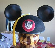 FRANCIS embroidered hat Walt Disney World Mickey Mouse EARS Yellow Tassel Adult