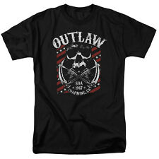 Sons Of Anarchy Outlaw Mens Short Sleeve Shirt Black