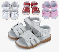 Free Shipping Kids Cow Leather Sandals Girl Summer Flower Sandals Children Shoes