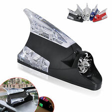 Car Auto Wind Power LED Light Shark Fin Antenna Warning Flash Lamp Decoration