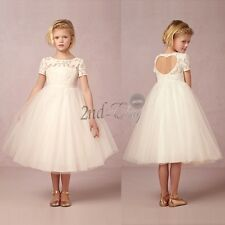 Baby Lace Princess Bridesmaid Flower Girl Dresses Kid Wedding Party Tutu Formal
