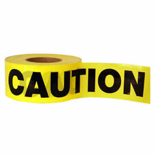 50M CAUTION TAPE YELLOW PVC ROLL SELF ADHESIVE HAZARD SAFETY WARNING TAPE