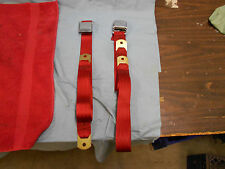 1958-69 Corvette Replacement Seat Belts, Red