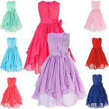 Flower Girl Chiffon Princess Dress Kid Party Pageant Wedding Bridesmaid Dresses