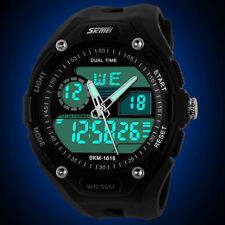SKMEI Men's Waterproof Digital Alarm Date Sport Analog LED Backlight Wrist Watch