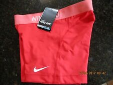 """NIKE 3"""" PRO  COMPRESSION SHORTS- LADIES- RED -BNWT- SIZE XS,S, M  LAST 3"""