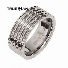 Mens Tyre Track Bee Tungsten Band Trueman Carbide Mens Ring Size 8.25-13.25