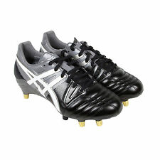 Asics Gel Lethal Tight Five Mens Black Leather Athletic Rugby Cleats Shoes