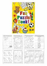 Childrens Fun Puzzle Books Party Bag Fillers Birthday Gift Wedding Lucky Dip