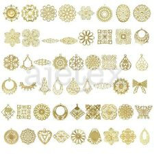 Gold Metal Links Pendants Charms Jewelry Flower/Round/Oval/Square/Teardrop