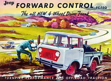 1956 Jeep FC-150 Forward Control 4-Wheel Drive Truck - Advertising Poster