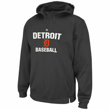Detroit Tigers Majestic All In Effort Therma Base Hoodie - Gray - MLB