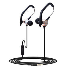 Caldecott-45 HIFI Stereo Bass 3.5mm In Ear Earphone Ear Hook Sport Wired w Mic