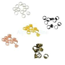 10Pcs Finger Ring Base Adjustable Cabochon Ring Base Blank with 10x15mm Glue Pad