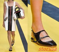 Womens new Patent Leather Sequare Toe Flats Shoes Buckle Strap Slingback Sandals